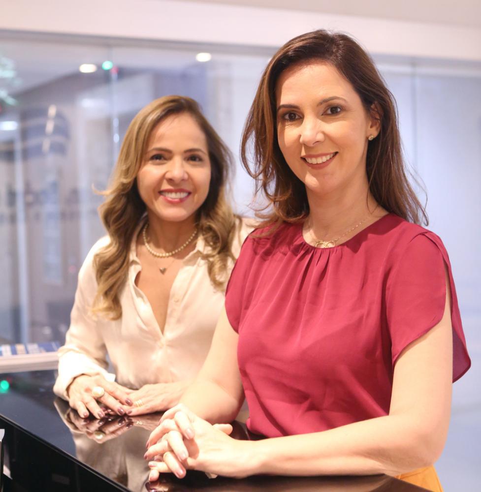 A pré-candidata Daniela Borges e sua vice Christianne Gurgel